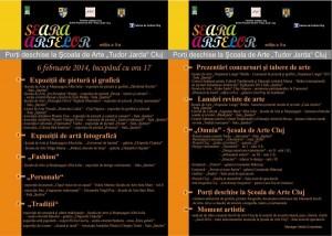 Invitatie Seara Artelor 2014